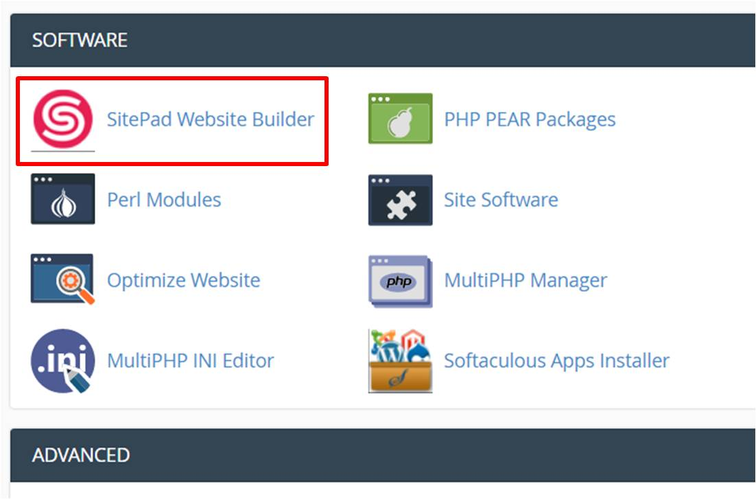 free website builder cpanel